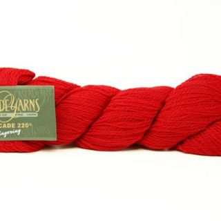 Cascade 220 Fingering 8895 Christmas Red