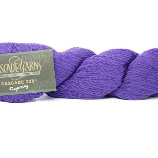 Cascade 220 Fingering 7808 Purple Hyacinth